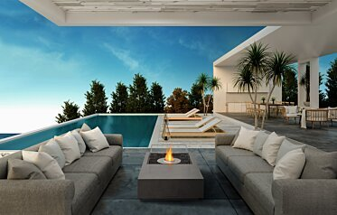 Manhattan 50 Fire Pit Table - In-Situ Image by EcoSmart Fire