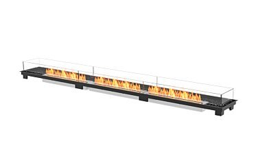 Linear 130 Fire Pit Kit - Studio Image by EcoSmart Fire