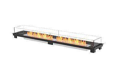 Linear 90 Fire Pit Kit - Studio Image by EcoSmart Fire