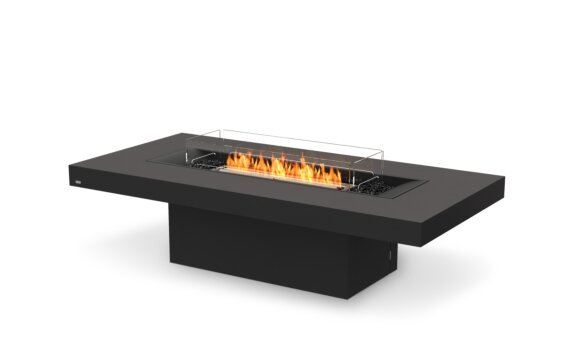 Gin 90 (Chat) Fire Pit - Ethanol - Black / Graphite / Optional Fire Screen by EcoSmart Fire