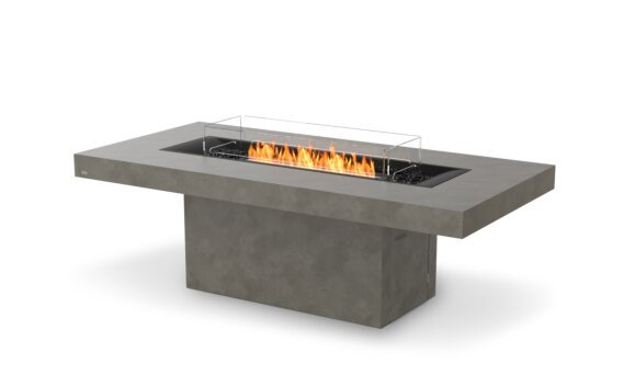 Gin 90 (Dining) Fire Pit - Ethanol - Black / Natural / Optional Fire Screen by EcoSmart Fire