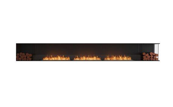 Flex 158RC.BX2 Right Corner - Ethanol / Black / Installed View by EcoSmart Fire