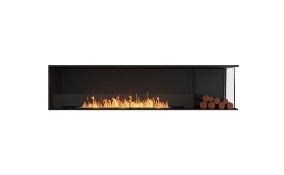 Flex 86RC.BXR Right Corner - Ethanol / Black / Installed View by EcoSmart Fire