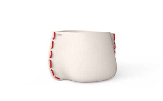 Stitch 75 Planter - Bone / Red by Blinde Design