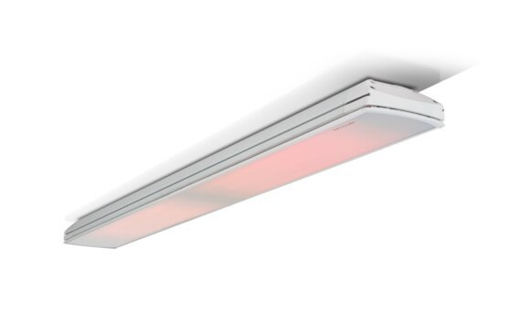 Vision 3200W Radiant Heater - White / White - Flame On by Heatscope