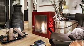 Cube Designer Fireplace - In-Situ Image by EcoSmart Fire