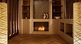 Firebox 800SS Fireplace Insert - In-Situ Image by EcoSmart Fire