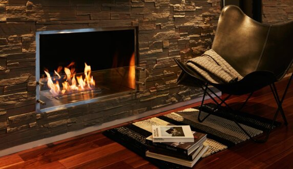 Private Residence - Firebox 1000SS Fireplace Insert by EcoSmart Fire