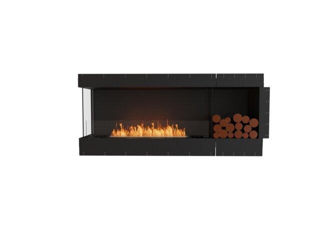 Flex 68LC.BXR Left Corner - Ethanol / Black / Uninstalled View by EcoSmart Fire