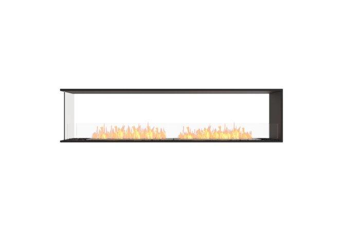 Flex 86PN Peninsula - Ethanol / Black / Installed View by EcoSmart Fire