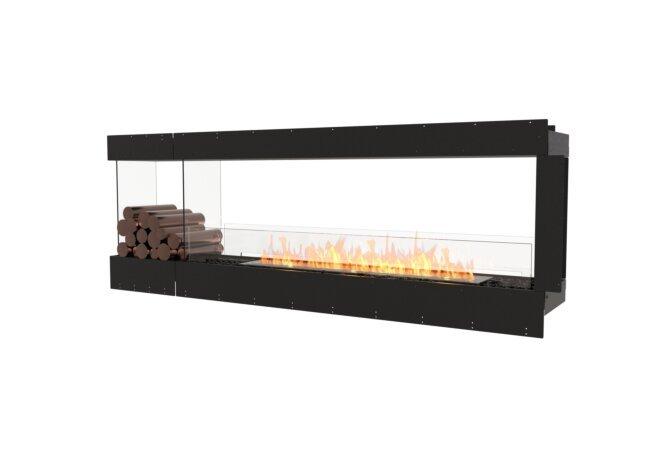 Flex 86PN.BXL Peninsula - Ethanol / Black / Uninstalled View by EcoSmart Fire