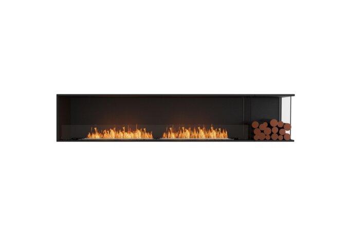 Flex 104RC.BXR Right Corner - Ethanol / Black / Installed View by EcoSmart Fire