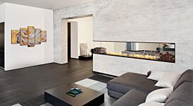 Flex 50PN.BXR Fireplace Insert - In-Situ Image by EcoSmart Fire