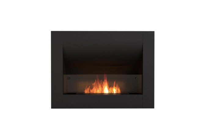 Firebox 720CV Curved Serie - Ethanol / Black / Front View by EcoSmart Fire