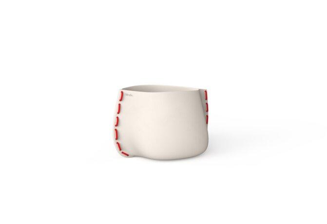 Stitch 25 Planter - Bone / Red by Blinde Design