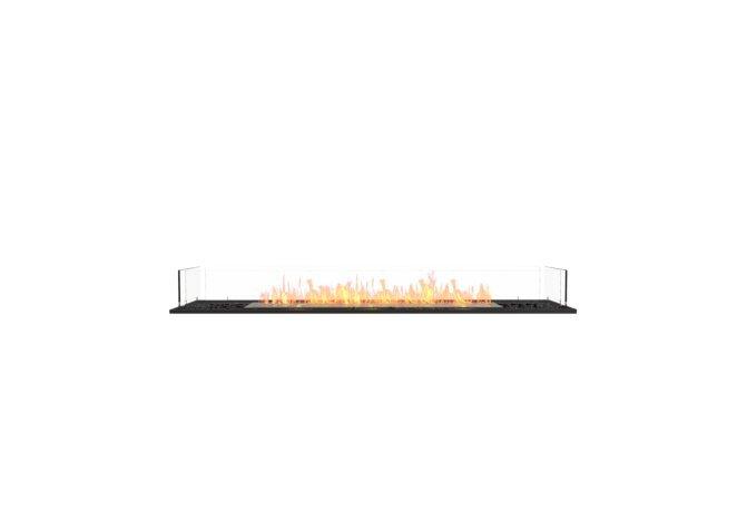 Flex 68BN Bench - Ethanol / Black / Installed View by EcoSmart Fire