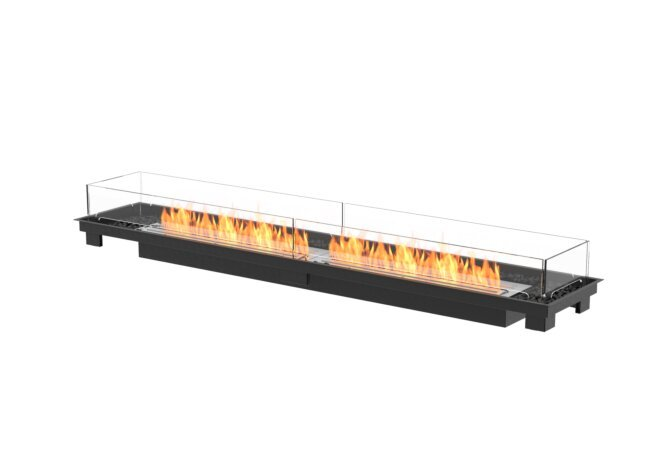 Linear 90 Fireplace Insert - Ethanol / Black / Indoor Safety Tray by EcoSmart Fire