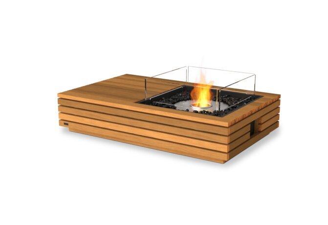 Manhattan 50 Fire Pit - Ethanol / Teak / Optional Fire Screen by EcoSmart Fire