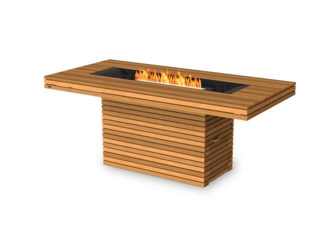 Gin 90 (Bar) Fire Pit - Ethanol - Black / Teak by EcoSmart Fire