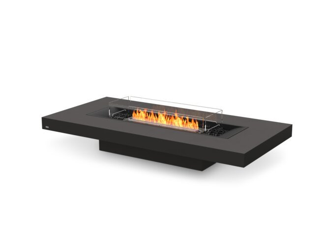 Gin 90 (Low) Fire Pit - Ethanol - Black / Graphite / Optional Fire Screen by EcoSmart Fire