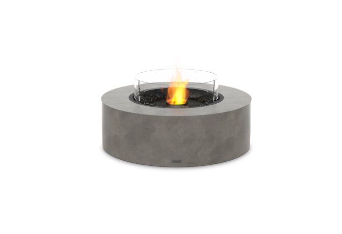 Ark 40 Fire Pit - Ethanol - Black / Natural / Optional Fire Screen by EcoSmart Fire