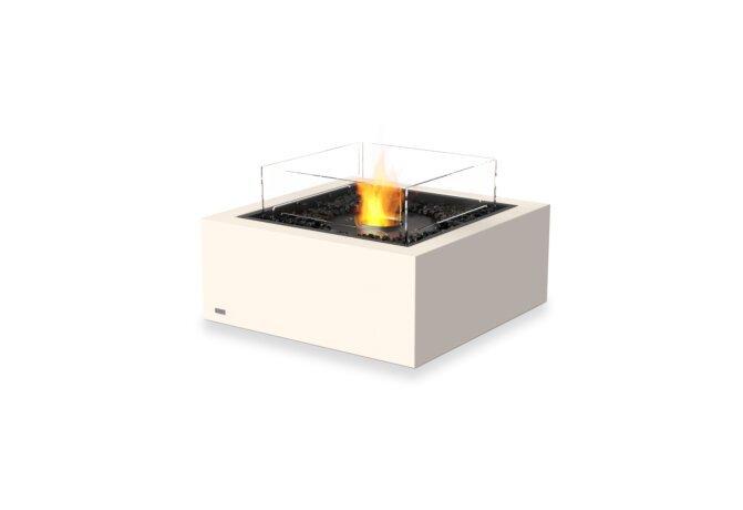 Base 30 Fire Pit - Ethanol - Black / Bone / Optional Fire Screen by EcoSmart Fire
