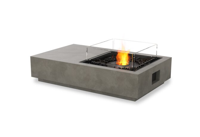 Manhattan 50 Fire Pit - Ethanol - Black / Natural / Optional Fire Screen by EcoSmart Fire