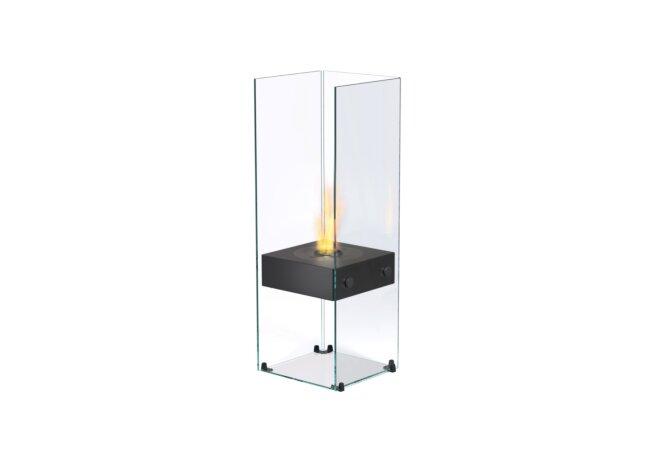 Ghost Designer Fireplace - Ethanol / Black / Optional Log Set by EcoSmart Fire