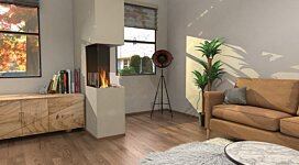 Flex 18PN Fireplace Insert - In-Situ Image by EcoSmart Fire
