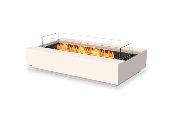 Cosmo 50 Fire Pit - Ethanol - Black / Bone / Optional Fire Screen by EcoSmart Fire