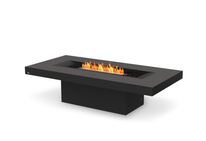 Gin 90 (Chat) Fire Pit - Ethanol - Black / Graphite by EcoSmart Fire