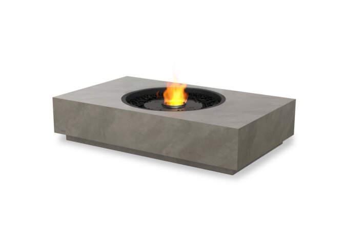 Martini 50 Fire Pit - Ethanol - Black / Natural by EcoSmart Fire